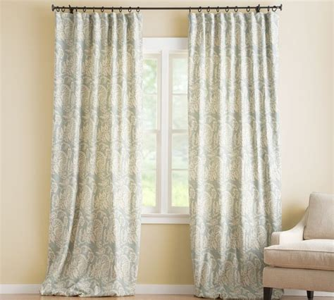 pottery barn drapes alessandra floral drape with blackout liner contemporary