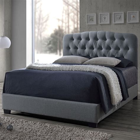 King Upholstery by Crown Tilda Light Grey King Upholstered Bed Sol