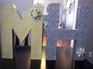 wedding decorations bought paper mache letters at With paper letters michaels