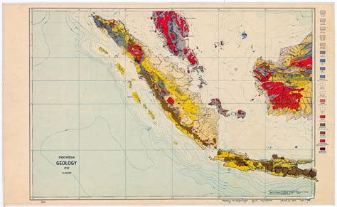 indonesia geology map indonesia mappery