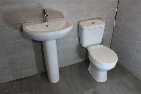 toilet combo modern bathroom cloakroom 4 piece suite wc toilet cistern basin pedistal tap opt