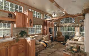 Log Cabin Park Model Home's Interior