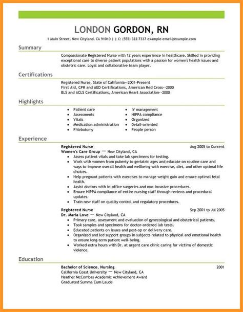 How To Write A Detailed Cv by 14 15 Nursing Resume Profile Exles Southbeachcafesf