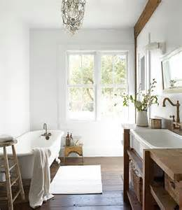 country living bathroom ideas salvaged wood washstand cottage bathroom country living