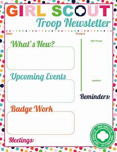 i am girl scouts With girl scout calendar template