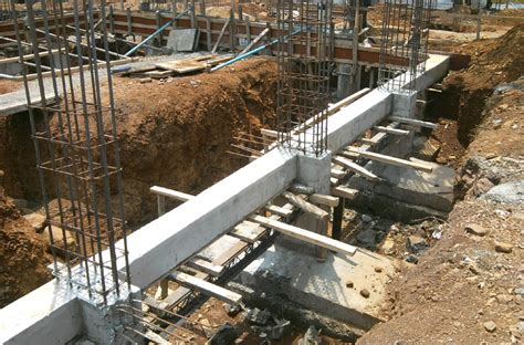 Individual footing with plinth beam connecting them ...