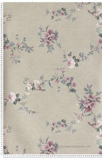 foto de Papier Peint classique anglais roses Fleurs : papier peint