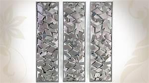 Deco Murale Metal : dco murale en mtal argent 44x106cm cala oriental patterns ~ Voncanada.com Idées de Décoration