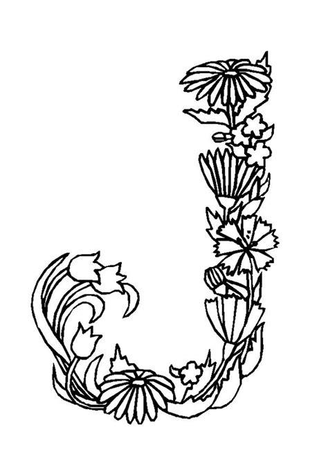 Kleurplaat Mandala Letter D by La Lettre J En Coloriage Fleuris Alaphabet Letters