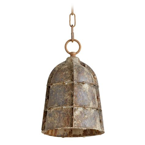 cyan design rusto rustic mini pendant light with bowl