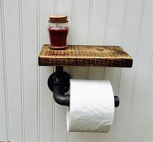 Buy, Hand, Crafted, Rustic, Oak, And, Pipe, Toilet, Paper, Holder, Made, To, Order, From, Timberforge, Designs