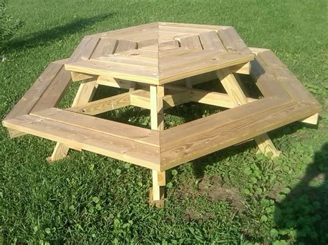 garden  patio outdoor wooden octagon picnic table