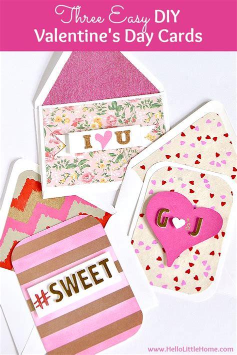 3 Easy Diy Valentine's Day Cards