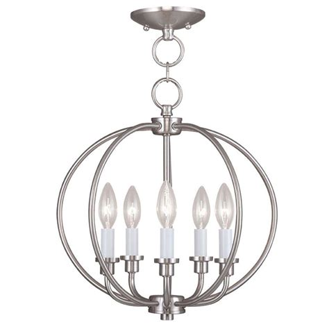 brushed nickel flush mount ceiling light livex lighting providence 5 light brushed nickel