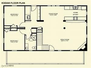 Log Cabin Floor Plans with Loft Open Floor Plans Log Cabin ...