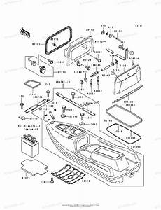 Kawasaki Jet Ski 1994 Oem Parts Diagram For Hull