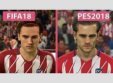 FIFA 18 vs PES 2018 – Graphics Comparison 4K YouTube