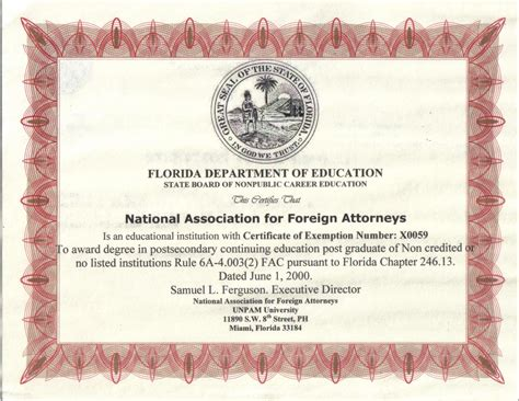 collection of florida department of education certification business cards and resume