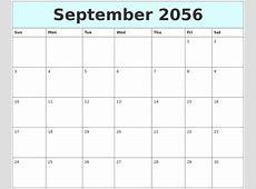 August 2056 My Calendar