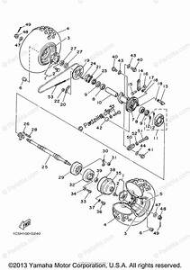 Yamaha Atv 2008 Oem Parts Diagram For Rear Wheel