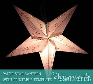 make a paper lantern printable template and