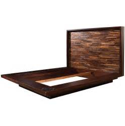 fantastic wood california king size platform bed frame with reclaimed wood headboard inspiration