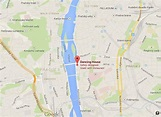 Where is Dancing House on map of Prague
