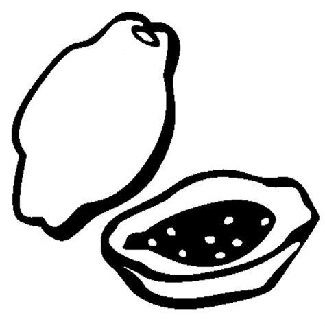 gambar mewarnai buah pepaya untuk anak paud dan tk