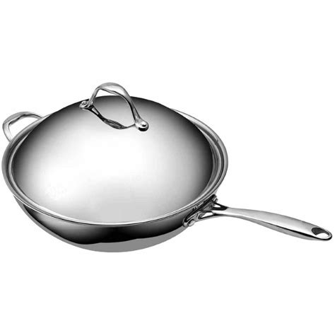 top quality tri ply clad stainless steel sauce pot stock pot  lid