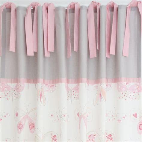vorhang rosa kinderzimmer gardinen vorh 228 nge vorhang schmetterlinge hellgrau rosa 140 x 240 cm ein designerst 252 ck
