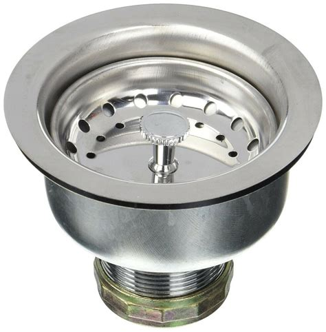 kitchen sink stainless steel drain assembly strainer