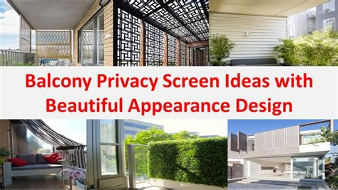 apartment patio privacy best 25 balcony privacy screen ideas on