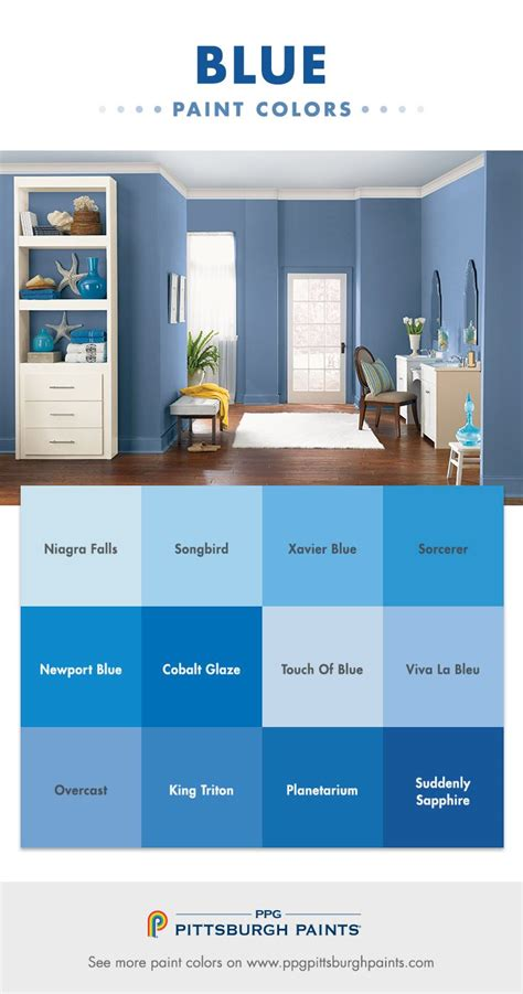 blue color inspiration from ppg pittsburgh paints blue