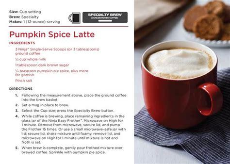 Pumpkin Spice Latte with the Ninja Coffee Bar