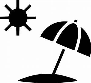 Sun Summer Umbrella Beach Svg Png Icon Free Download ...