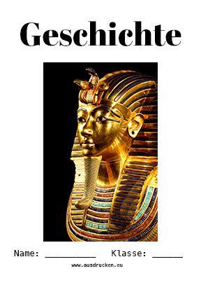 geschichte deckblatt pharao deckblaetter zum ausdrucken