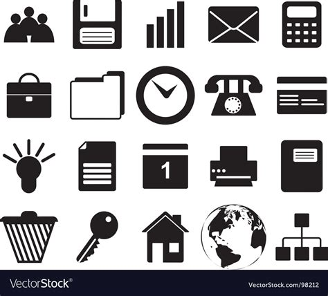 14701 business icon vector business and office icons set royalty free vector image