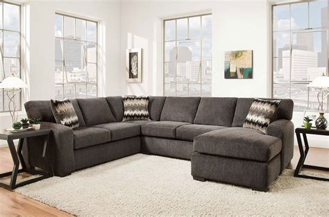 livingroom sectionals fenella 2 right facing sectional smoke