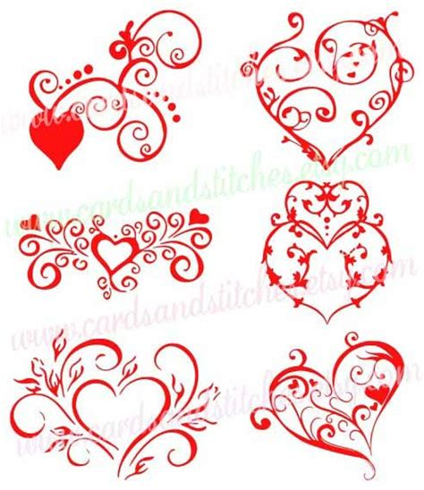 Free heart vector download in ai, svg, eps and cdr. Hearts SVG Valentine Hearts SVG Fancy Hearts SVG Digital