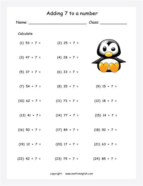 adding    number printable grade  math worksheet