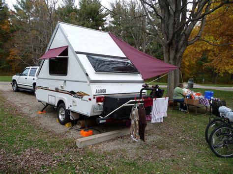 awning possibilities  frame camper aliner campers camper windows