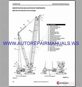 Manitowoc 18000 Crawler Crane Service  U0026 Parts Manual 2003