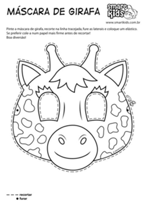 colorir desenho mascara de carnaval girafa desenhos