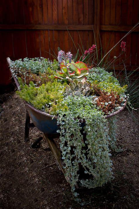 wheelbarrow planter ideas 7 diy planter ideas you probably never thought of photos