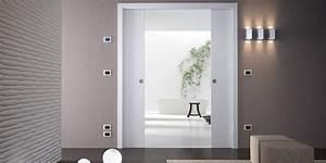 Porte A Galandage Double : porte coulissante galandage unique eclisse eclisse ~ Premium-room.com Idées de Décoration
