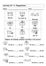 english worksheet prepositions  images english