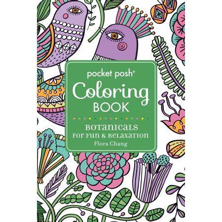 pocket adult coloring book pocket posh adult coloring book walmart com
