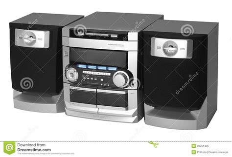 modern radio center modern metallic colored radio royalty free stock photo