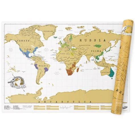 carte du monde 224 gratter originale cadeau maestro
