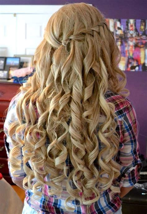 Curl Hairstyle For by Curly Hairstyles For Prom 2017 Modren Villa